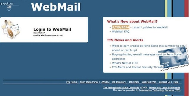 How To PSU Webmail